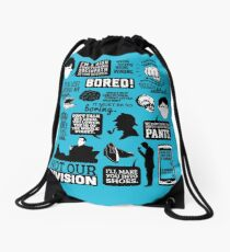 I'd Be Lost Without My Blogger Drawstring Bag