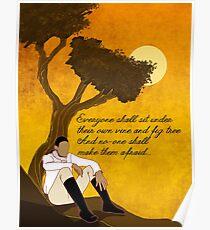 Vine and Fig Tree Artwork Poster