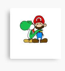Mario and Yoshi Canvas Print