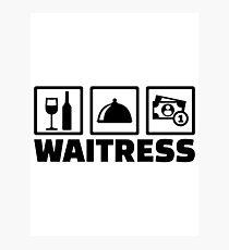 Waitress Photographic Print