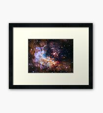 Hubble's 25th Birthday Gift to Us! Framed Print