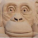 Chimpanzee Sand Sculpture by phil decocco