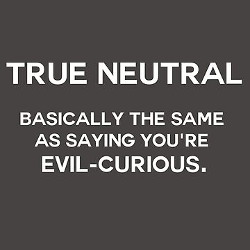 True neutral - variation 1 - white font by jandii