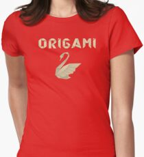 Origami Swan T Shirt Womens Fitted T-Shirt