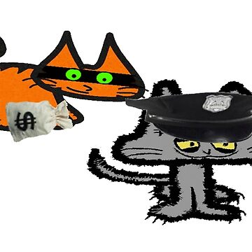 Two Cats Play Cop and Robber by JohnsCatzz