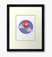 Mario Super Mushroom Air Balloon Framed Print