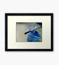 Copper Sulphate Corner Framed Print