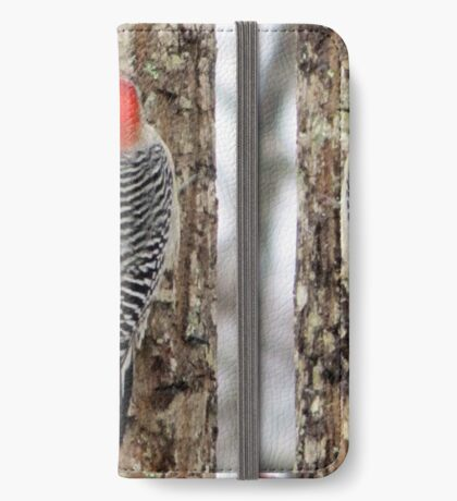 Woodpecker at Work iPhone Wallet
