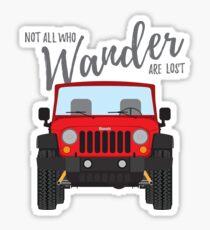 Wander (red) Sticker