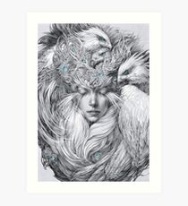 Fairy fairy with white hawks Art Print