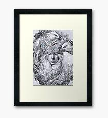 Fairy fairy with white hawks Framed Print