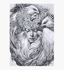 Fairy fairy with white hawks Photographic Print