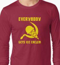 Everybody Gets Ice Cream - Yellow Long Sleeve T-Shirt