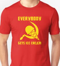 Everybody Gets Ice Cream - Yellow Unisex T-Shirt