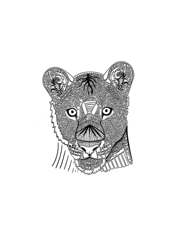 Lioness Doodle by maretjohnson