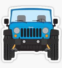 Jeep Wrangler (blue) Sticker
