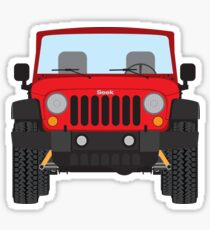 Jeep Wrangler (red) Sticker