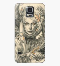 Lady with hawks and amber jewelry Case/Skin for Samsung Galaxy