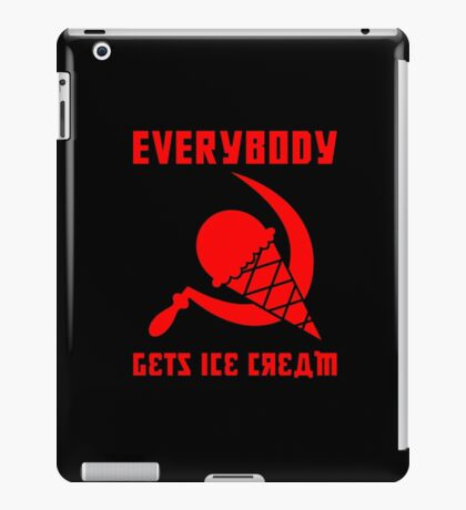 Everybody Gets Ice Cream - Red iPad Case/Skin