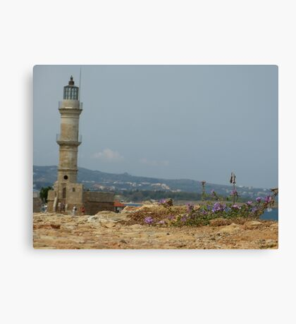 Chania Lighthouse Canvas Print