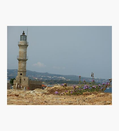 Chania Lighthouse Photographic Print
