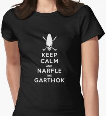 Keep Calm and Narfle the Garthok Womens Fitted T-Shirt