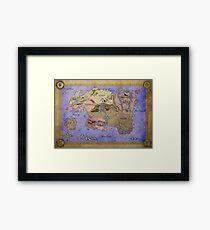 Elders Scrolls map in Ink - COLOR Framed Print