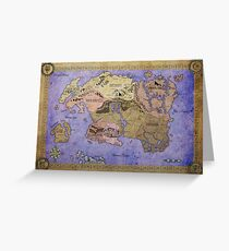 Elders Scrolls map in Ink - COLOR Greeting Card