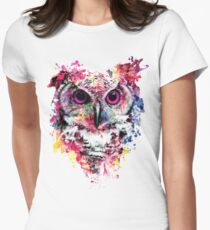 Owl Women's Fitted T-Shirt