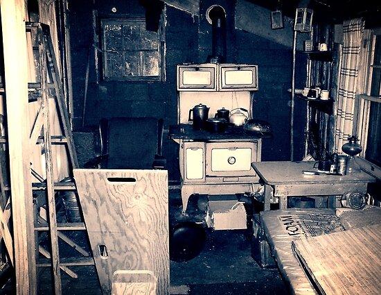 Vintage Cabin Interior by Phil Perkins