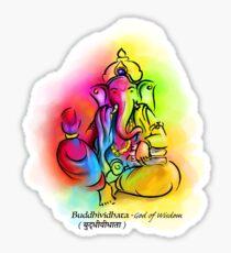 Ganesh / Buddhividhata - God of Wisdom Sticker