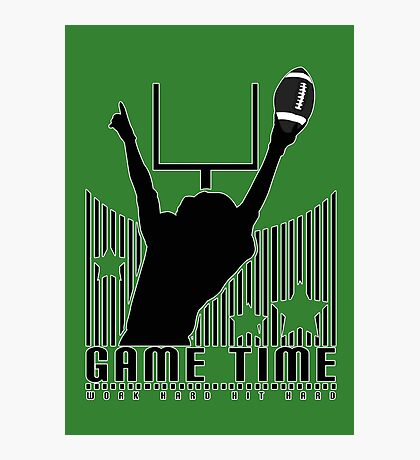 Game Time - Football (Green) Photographic Print