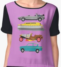 The Car's The Star: Flying Cars Chiffon Top