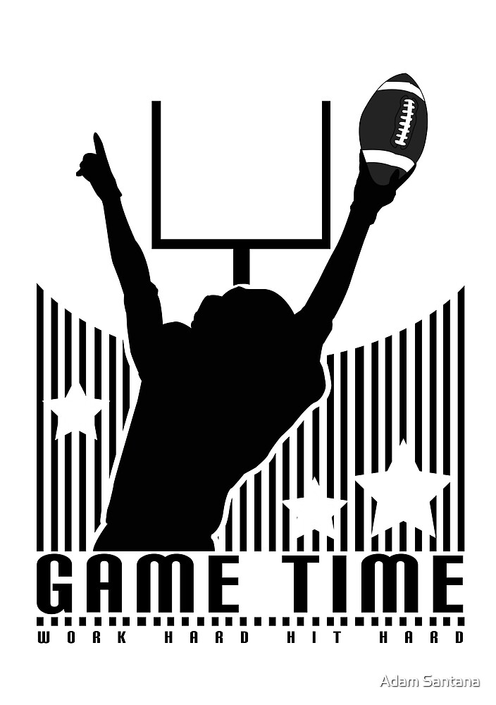 Game Time - Football (White) by Adamzworld