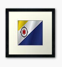 Bonaire flag Framed Print