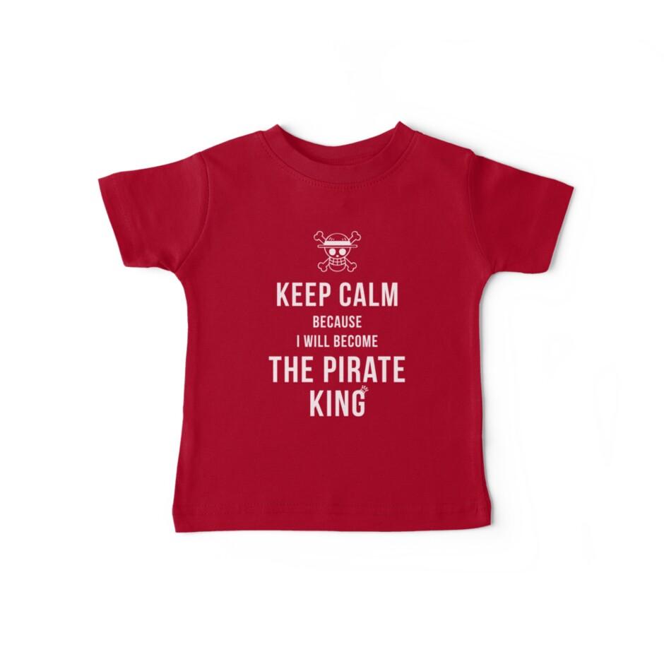 «Mantenga la calma porque me convertiré en la camiseta del Rey Pirata / Funda del teléfono / Más» de zehel