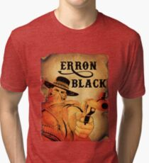 Wanted- Erron Black Tri-blend T-Shirt