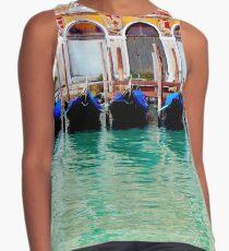 Gondolas in Venice Contrast Tank
