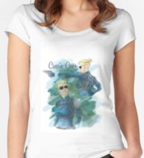cassie cage -white bkg- Women's Fitted Scoop T-Shirt