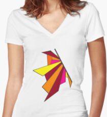 Shatterwing Firebringer Women's Fitted V-Neck T-Shirt