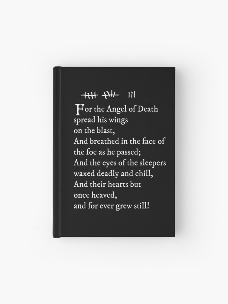 Archer Pams Tattoo Lord Byron Poem White Text Hardcover Journal