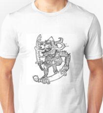 Skateboarding Demon Samurai  Unisex T-Shirt