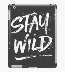 Stay Wild - White iPad Case/Skin