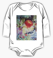 GIRL IN GARDEN - Antique Collage One Piece - Long Sleeve