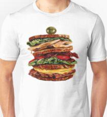 Turkey Club on Rye Sandwich Unisex T-Shirt