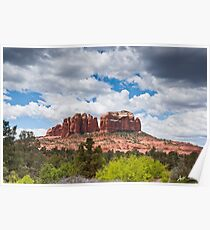 Storm Clouds Over Cathedral Rocks Poster