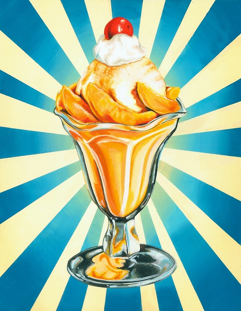 Peach Sundae by Kelly  Gilleran