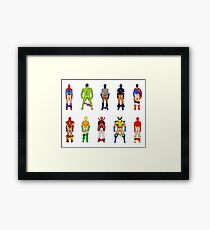 Superhero Butts Framed Print