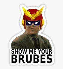 Steve Brule Captain Falcon Sticker