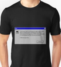 Nihilism Vaporwave Error Message  Slim Fit T-Shirt